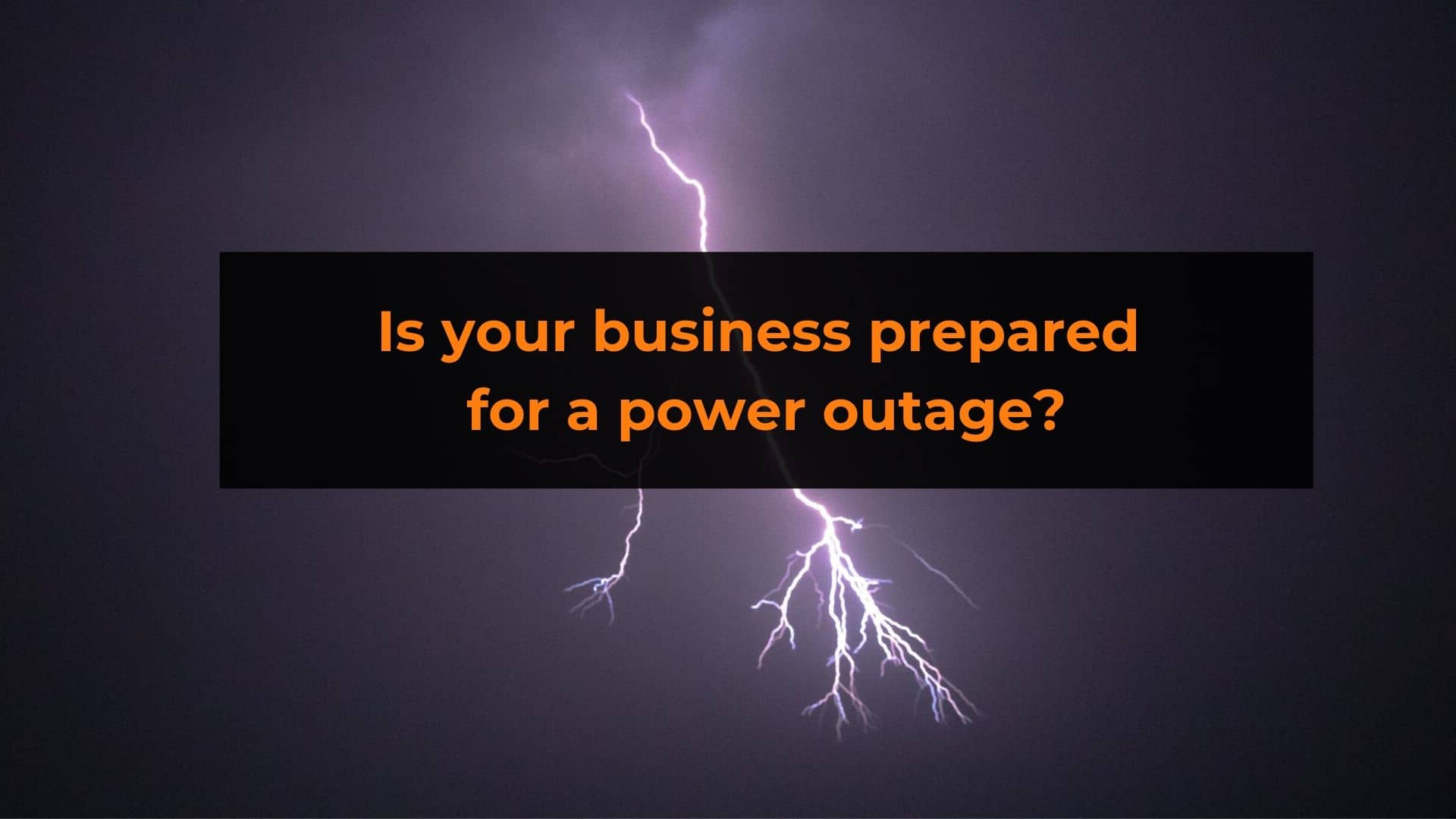 Uninterrupted Power Supplies are a simple solution for when power outages happen.